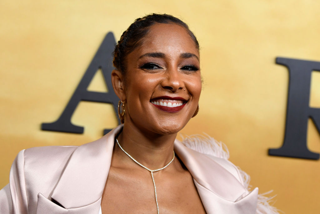 Amanda Seales on the red carpet at an event in October 2019