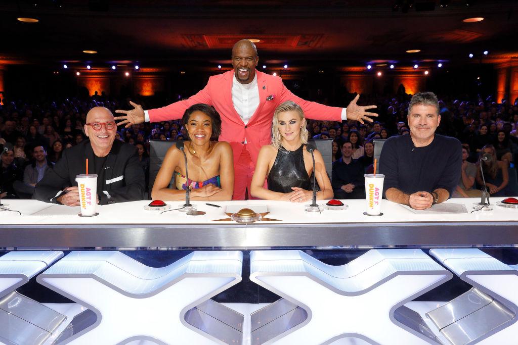 Howie Mandel, Gabrielle Union, Terry Crews, Julianne Hough, Simon Cowell on 'America's Got Talent'