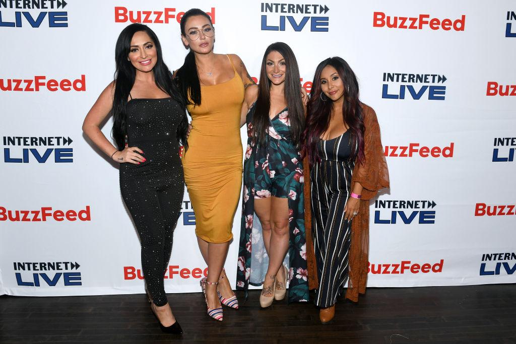 Angelina Pivarnick, Jenni 'JWoww' Farley, Deena Cortese, and Nicole 'Snooki' Polizzi