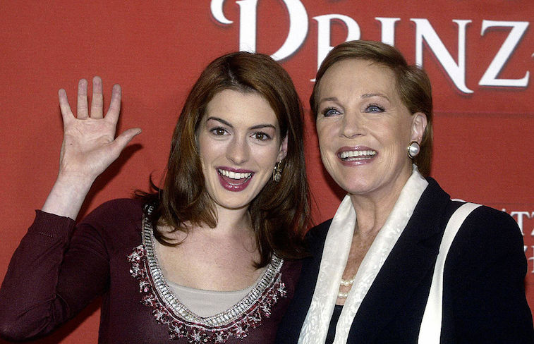 Anne Hathaway and Julie Andrews