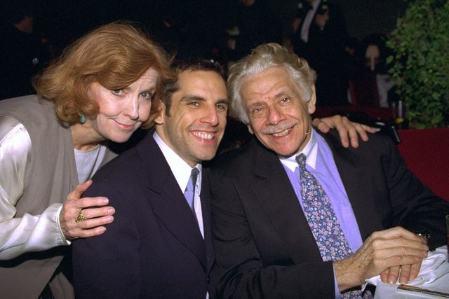 Anne Meara, Ben Stiller, and Jerry Stiller attend the premiere of 'Flirting with Disaster'