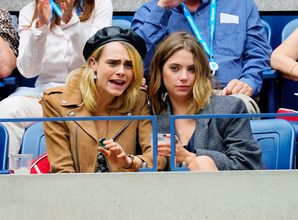 Cara Delevingne and Ashley Benson attend the 2019 US Open Women's final on September 07, 2019 in New York City