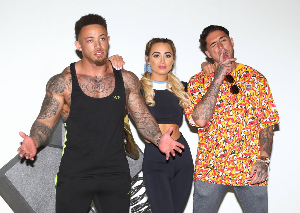 (L to R) Ashley Cain, Georgia Harrison, and Stephen Bear from MTV's 'The Challenge: War Of The Worlds'