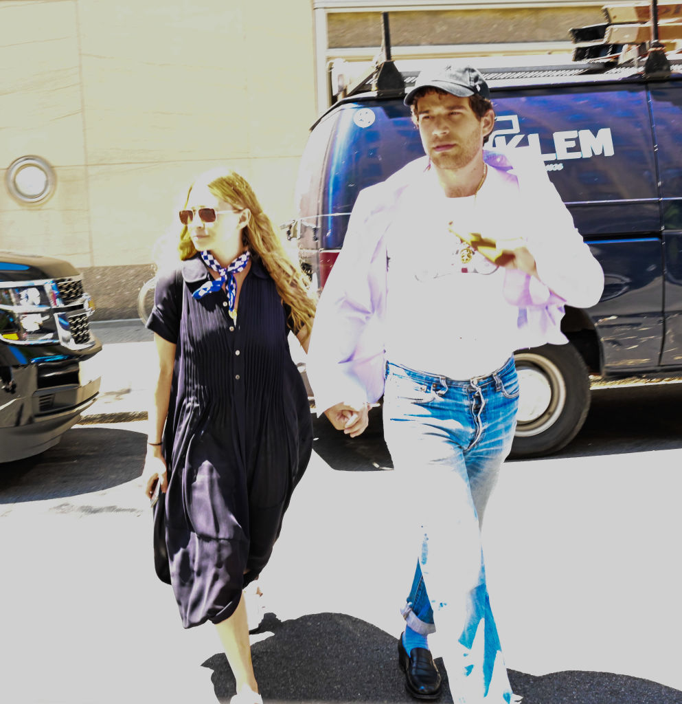 Ashley Olsen and Louis Eisner seen on the streets of Manhattan on July 1, 2019 in New York City