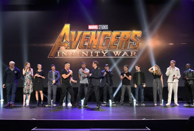 The cast and crew of 'Avengers: Infinity War'