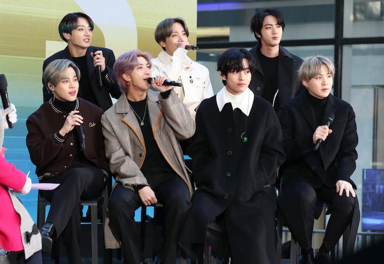 Jimin, Jungkook, RM, J-Hope, V, Jin, and SUGA