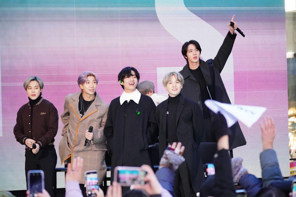 J-Hope, SUGA, Jungkook, Jimin, RM, V, and Jin of the K-pop band BTS