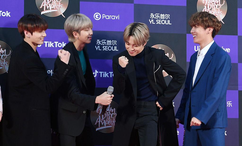 Jungkook, RM, Jimin. and J-Hope of BTS