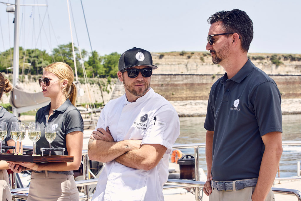 Adam Glick, Byron Hissey from 'Below Deck Sailing Yacht'