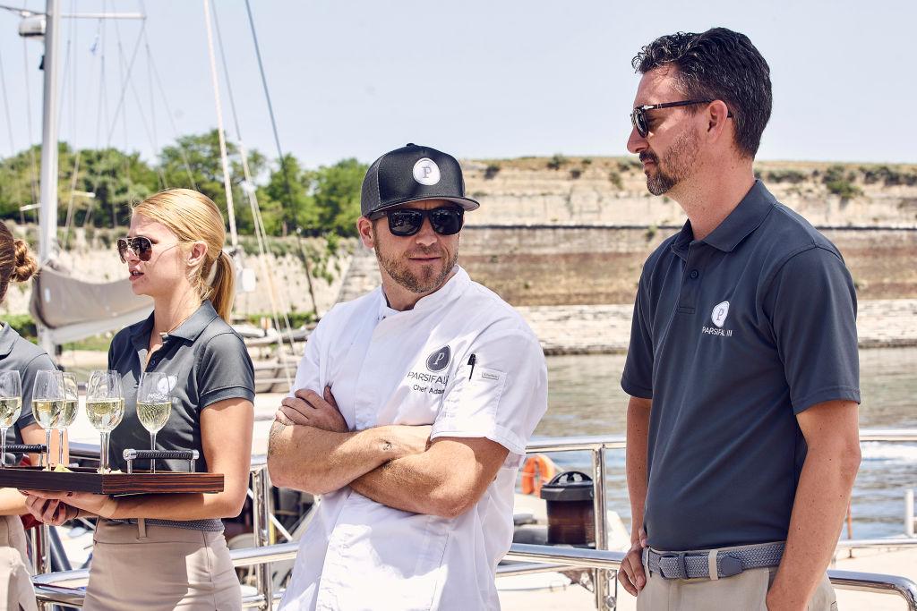 Adam Glick, Byron Hissey from 'Below Deck Sailing Yacht'