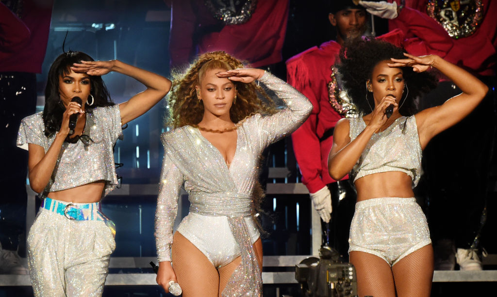 Michelle Williams, Beyoncé Knowles-Carter, and Kelly Rowland of Destiny's Child perform onstage during the 2018 Coachella Valley Music And Arts Festival