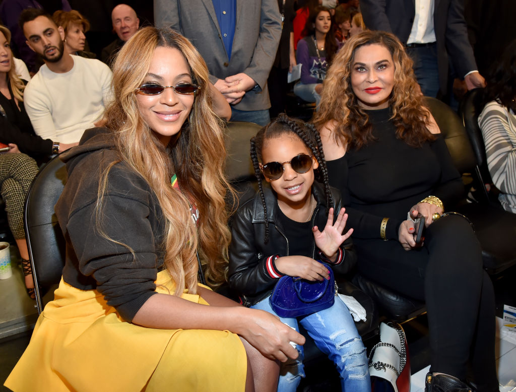 Beyonce Knowles Carter, Blue Ivy Carter, and Tina Knowles Lawson