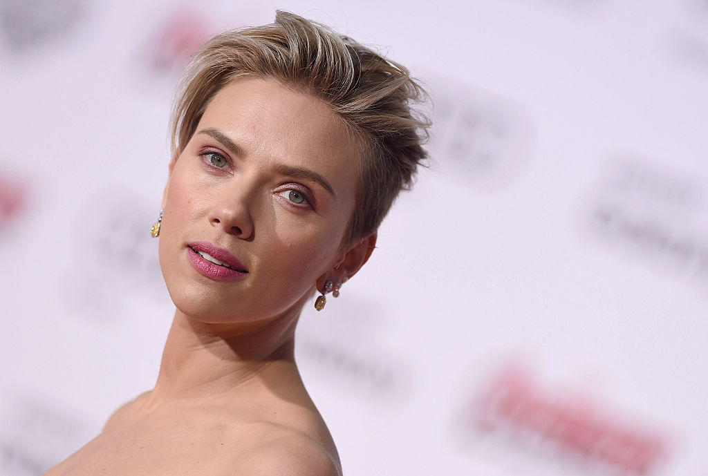 Black Widow' Actress Scarlett Johansson arrives at the Los Angeles premiere of Marvel's 'Avengers: Age Of Ultron'