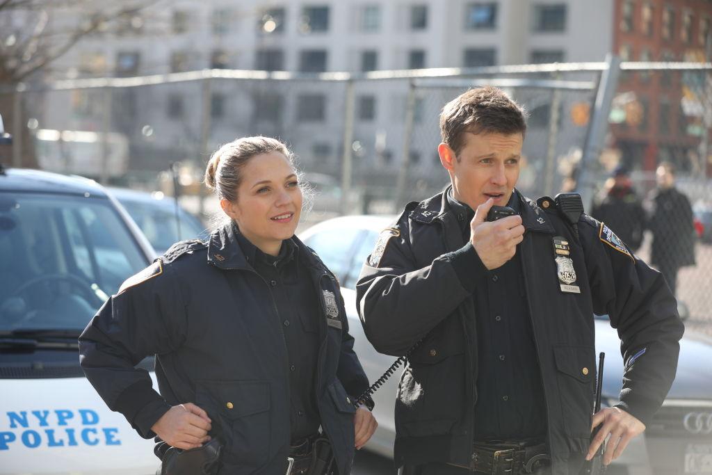 Vanessa Ray as Eddie Janko and Will Estes as Jamie Reagan