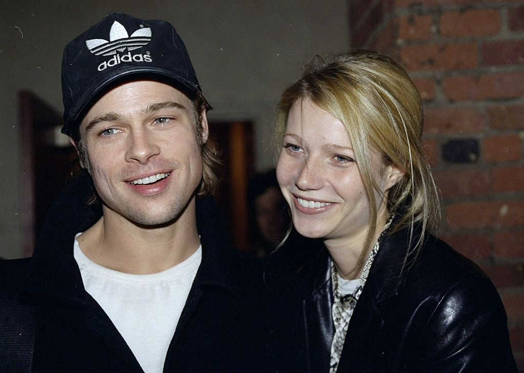 Brad Pitt and girlfriend Gwyneth Paltrow arrive at the Tribeca Film Center for the screening of 'Fargo'