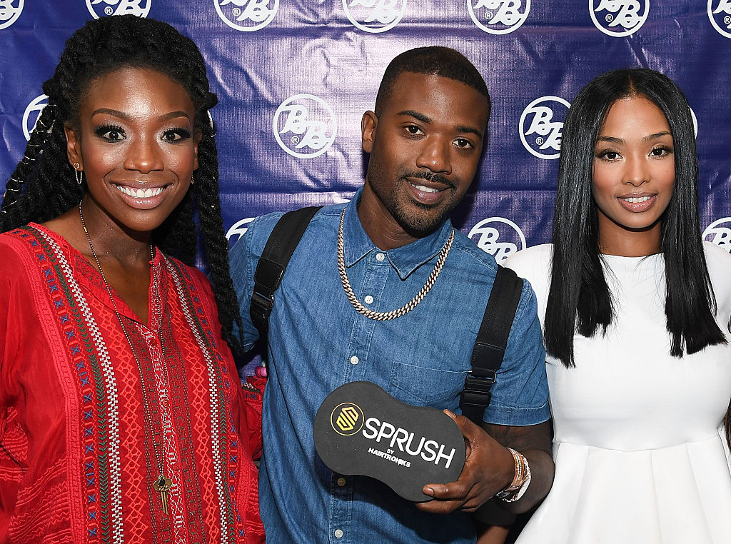 Brandy Norwood, Ray J, and Princess Love in 2016