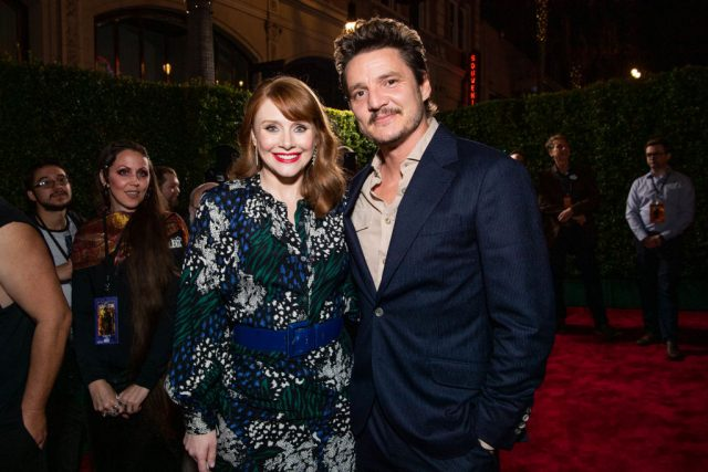 Bryce Dallas Howard and Pedro Pascal at the premiere of 'The Mandalorian'