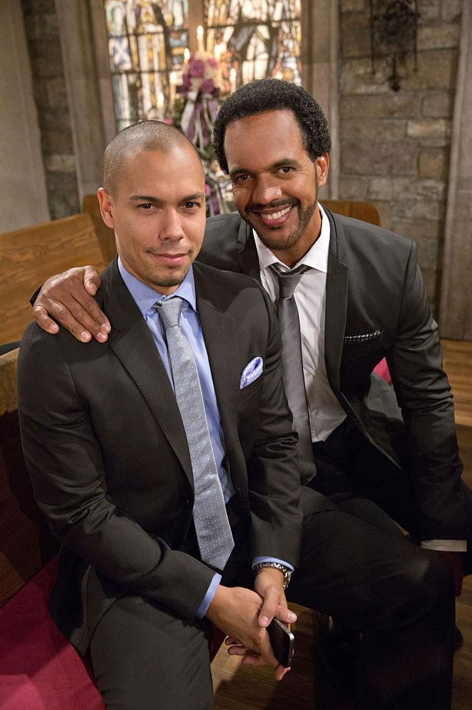 Bryton James and Kristoff St. John on 'The Young and the Restless' in 2014
