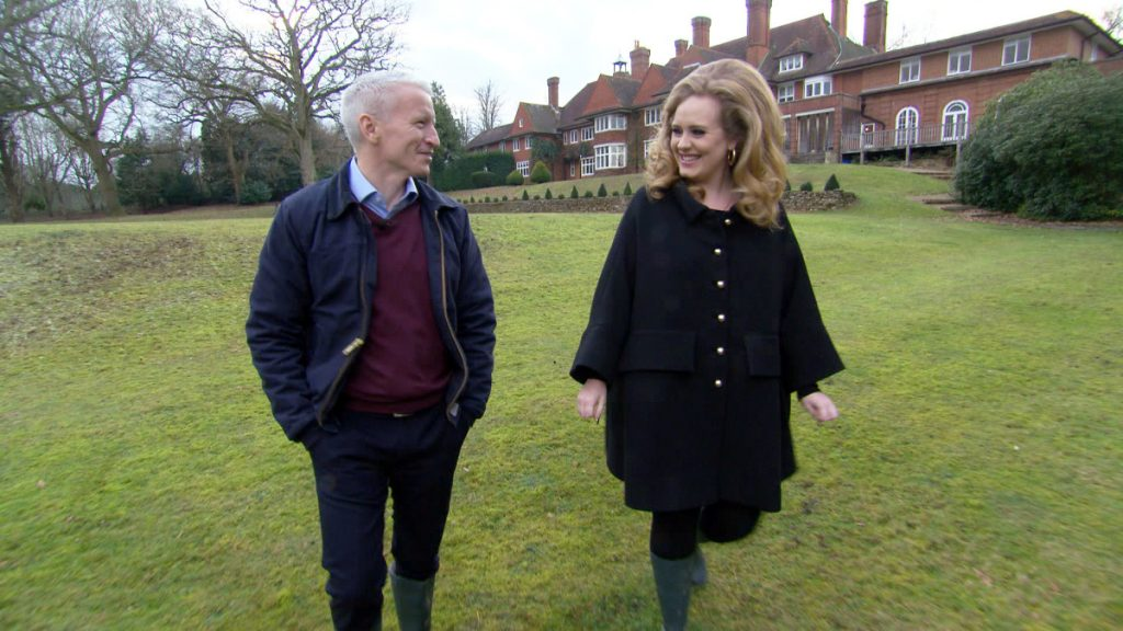 CNN and 60 Minutes host Anderson Cooper and Adele
