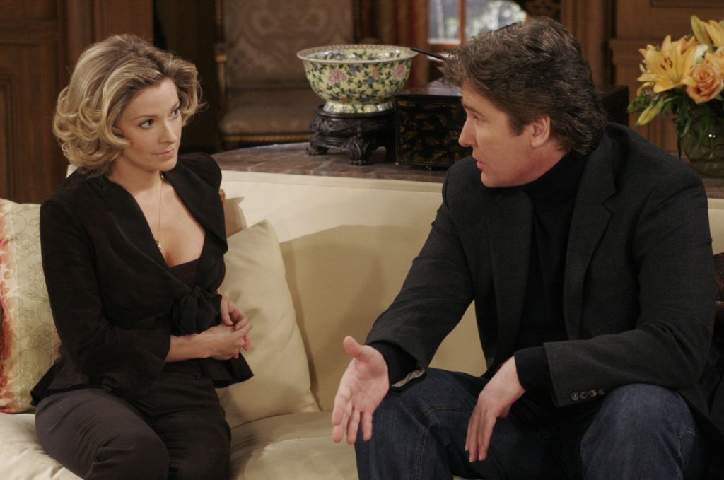 Cady McClain and Michael E. Knight in an 'All My Children' scene in 2006