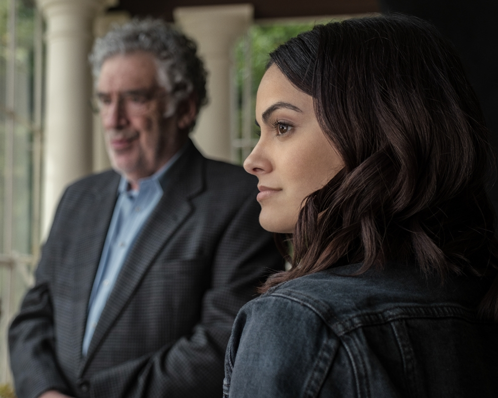 Camila Mendes and Elliott Gould