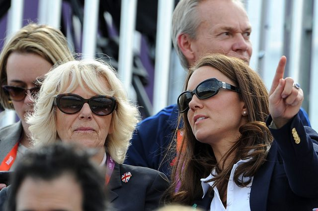 Camilla. Parker Bowles and Kate Middleton at the 2012 Olympic Games