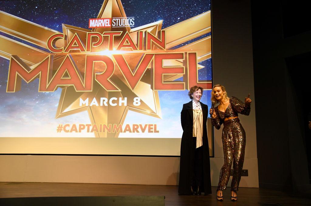Annette Bening and Brie Larson of 'Captain Marvel'