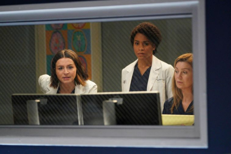 Caterina Scorsone, Kelley McCreary, and Ellen Pompeo on 'Grey's Anatomy'