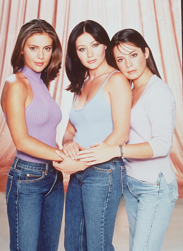 Charmed original cast Shannen Doherty, Alyssa Milano, Holly Marie Combs