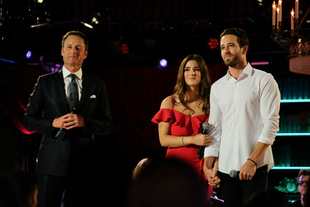 """Chris Harrison, Jamie Gabrielle, and Trevor Holmes on ABC's """"The Bachelor Presents: Listen to Your Heart"""" - Season One"""