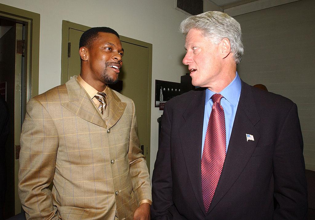 Chris Tucker and Bill Clinton