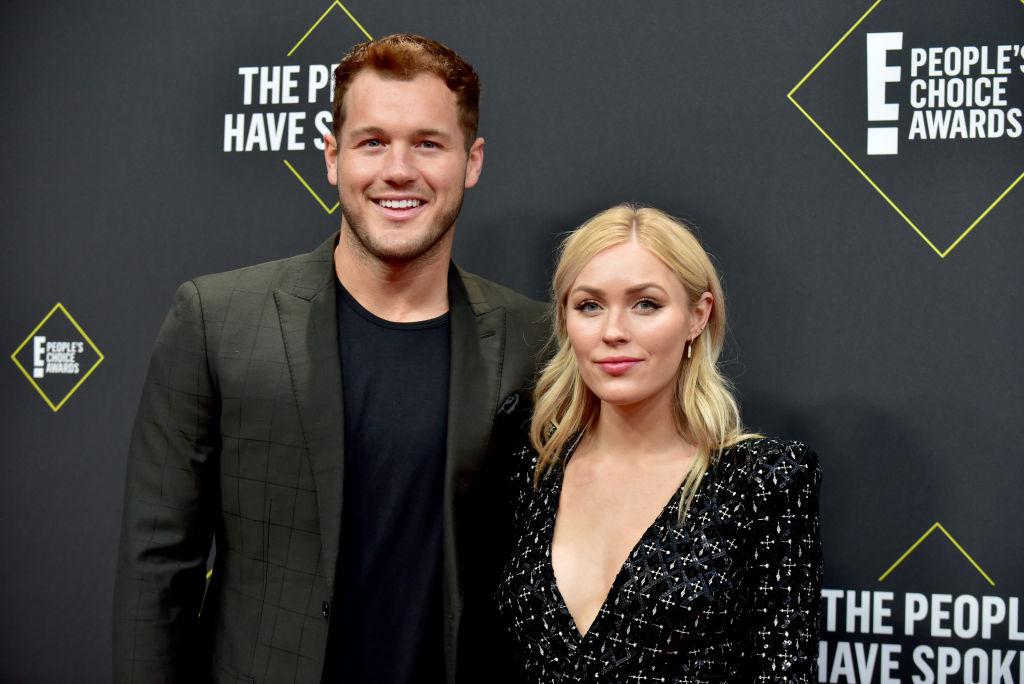 Colton Underwood and Cassie Randolph attend the 2019 E! People's Choice Awards at Barker Hangar on November 10, 2019 in Santa Monica, California.