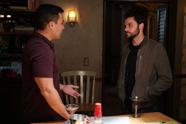 Conrad Ricamora and Jack Falahee as Oliver and Connor in 'How to Get Away With Murder'