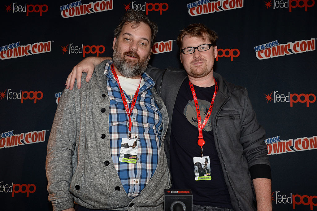 Dan Harmon and Justin Roiland attend the Rick and Morty panel during New York Comic Con 2013 at the Javits Center on October 12, 2013 in New York City.