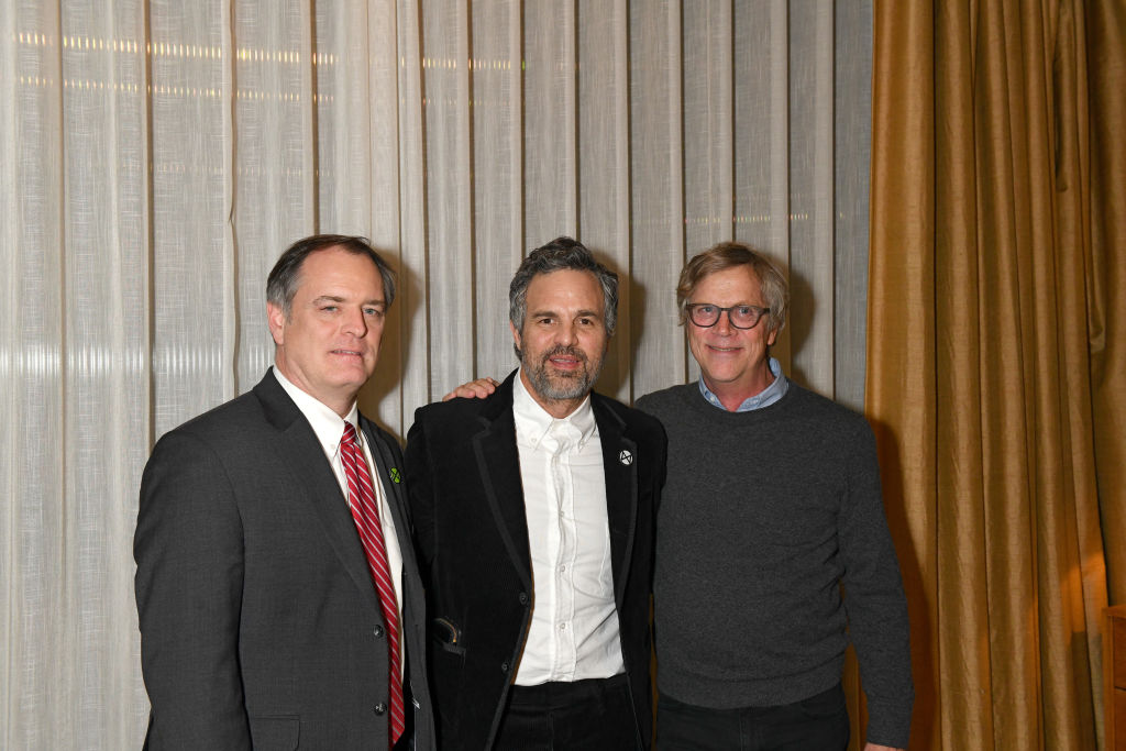 """Rob Bilott, Mark Ruffalo and Todd Haynes attend a photocall for """"Dark Waters"""""""