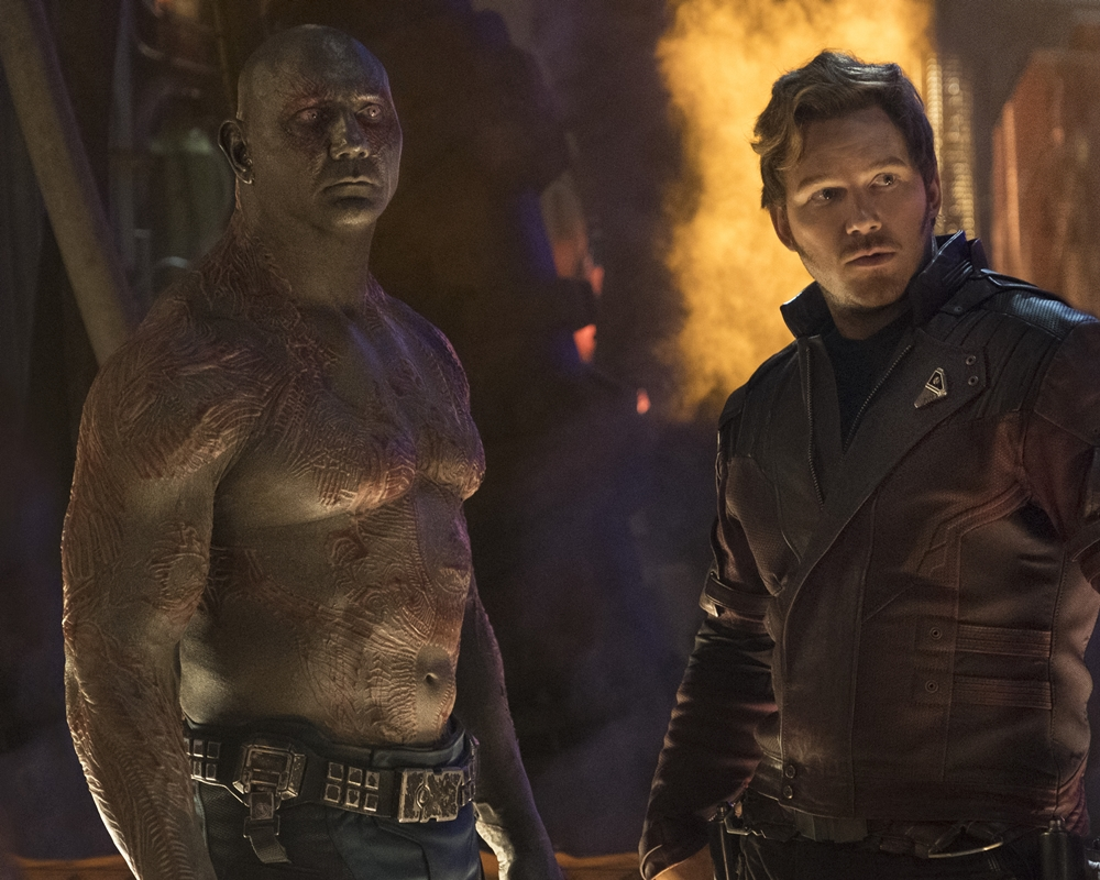 Guardians of the Galaxy Drax and Peter Quill