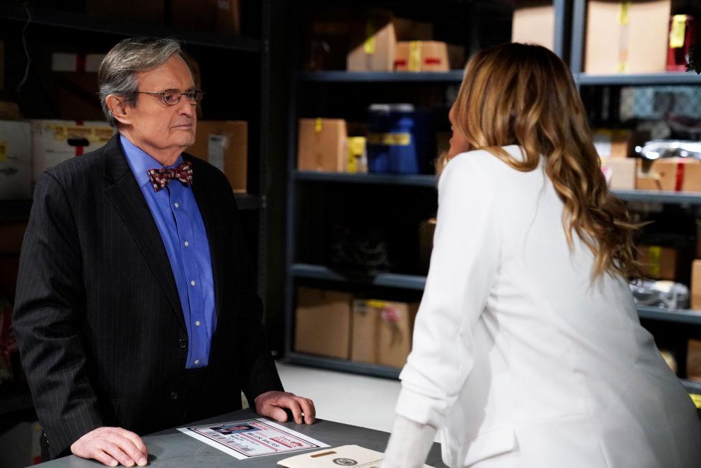 David McCallum and Maria Bello | Cliff Lipson/CBS via Getty Images