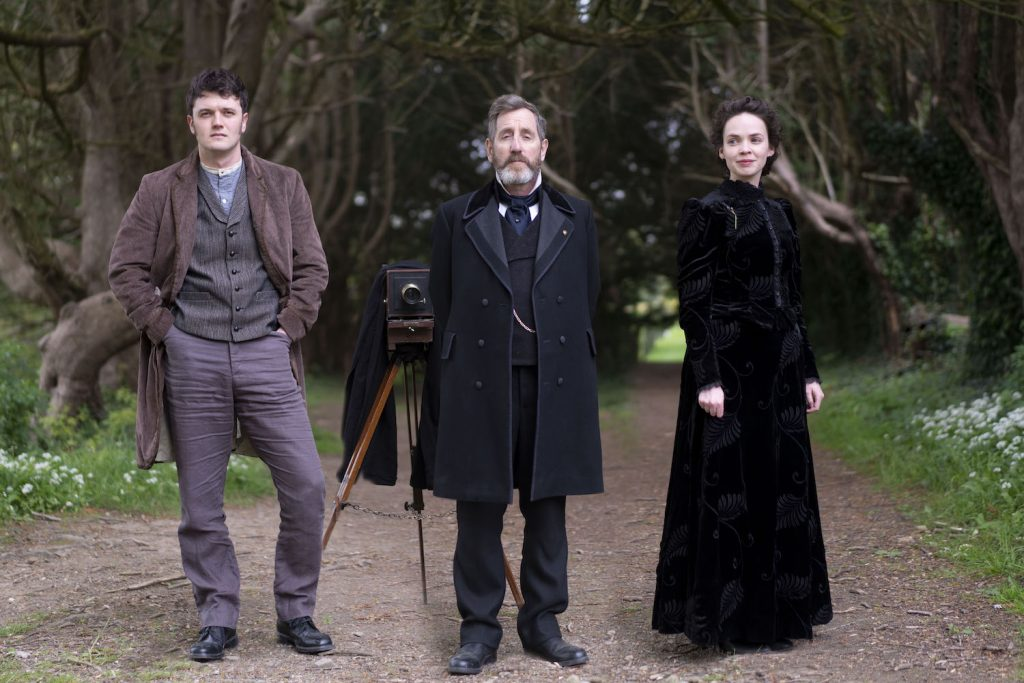 Kerr Logan as Conall Molloy, Michael Smiley as Brock Blennerhasset, and Eileen O'Higgins as Nancy Vickers