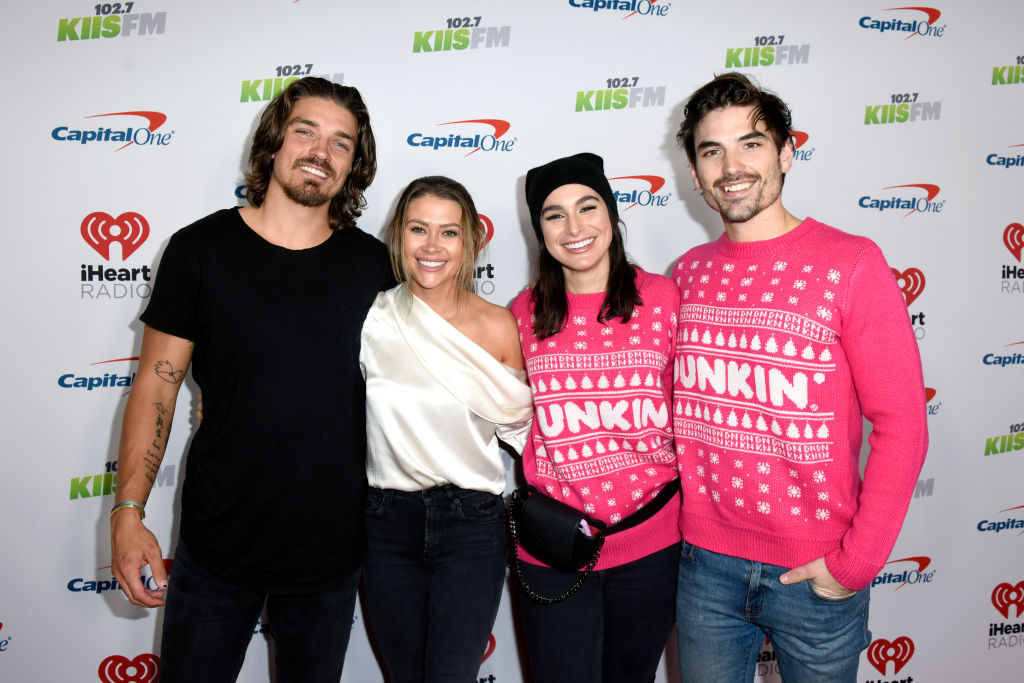 Dean Unglert, Caelynn Miller-Keyes, Ashley Iaconetti Haibon, and Jared Haibon