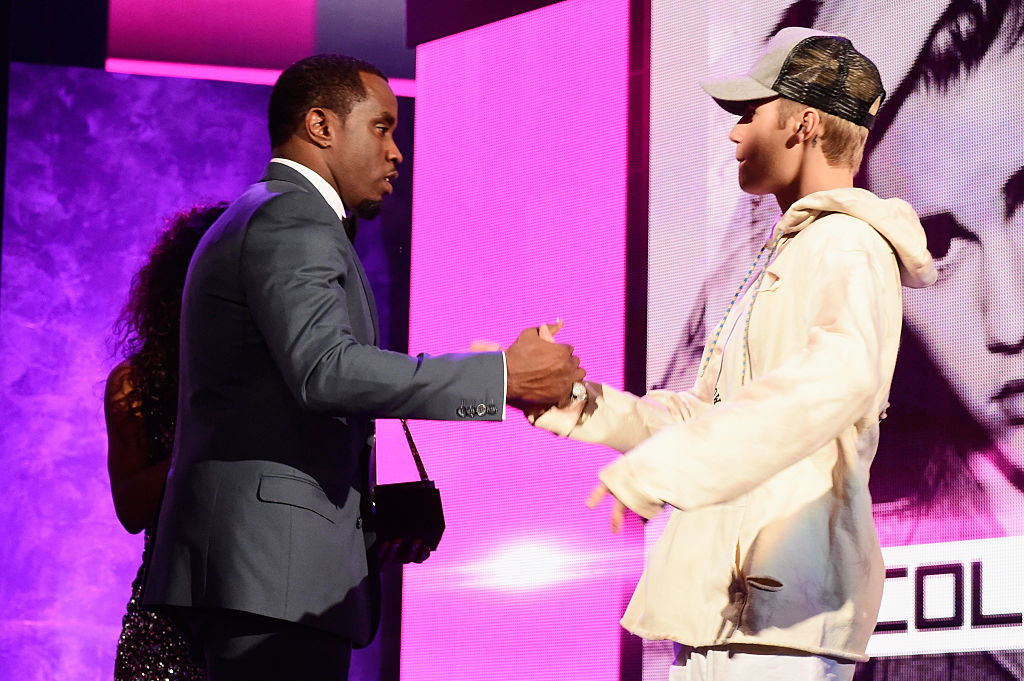Diddy and Justin Bieber at the American Music Awards