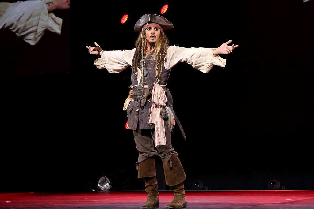 Actor Johnny Depp, dressed as Captain Jack Sparrow, of 'Pirates of the Caribbean'
