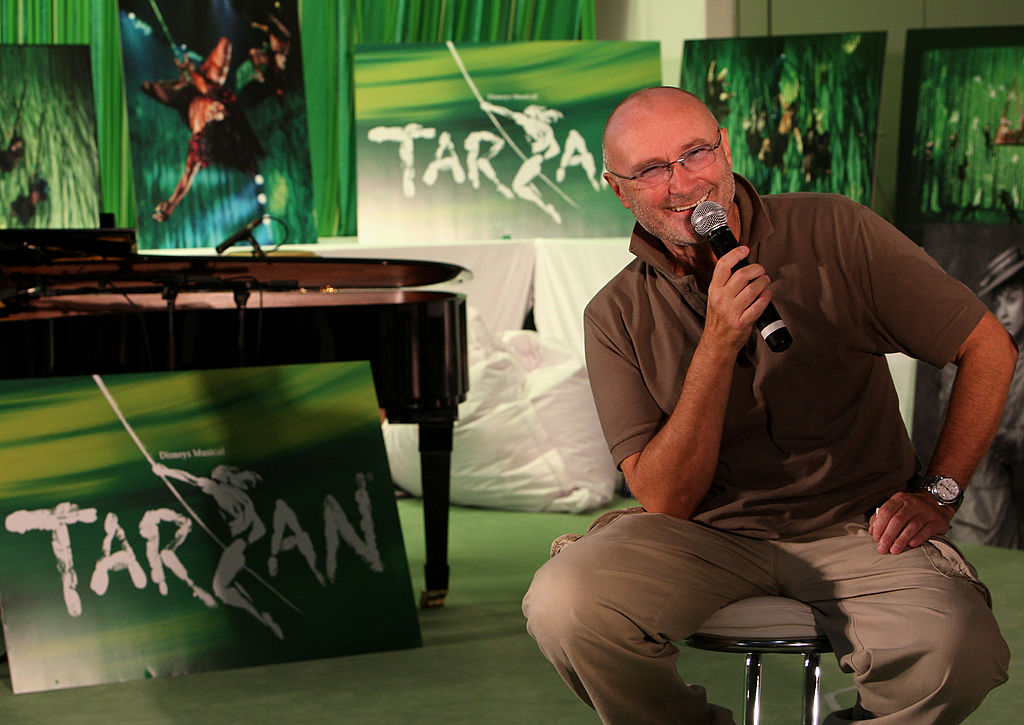 Phil Collins pose during the rehearsals for the Tarzan Musical