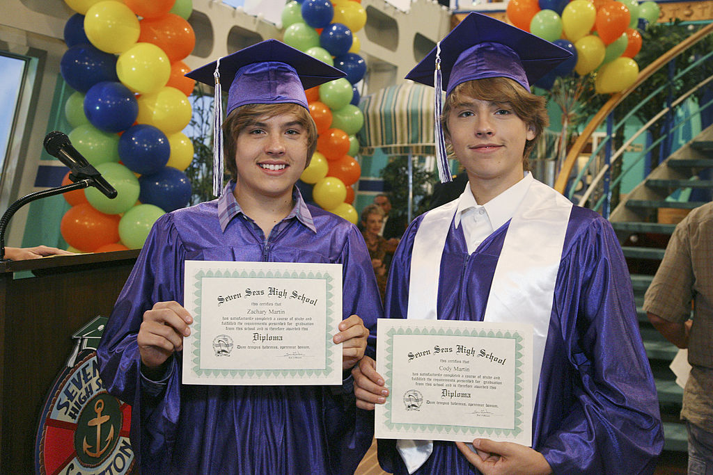 """""""Graduation on Deck""""  episode of 'Suite Life on Deck,' featuring Dylan and Cole Sprouse"""