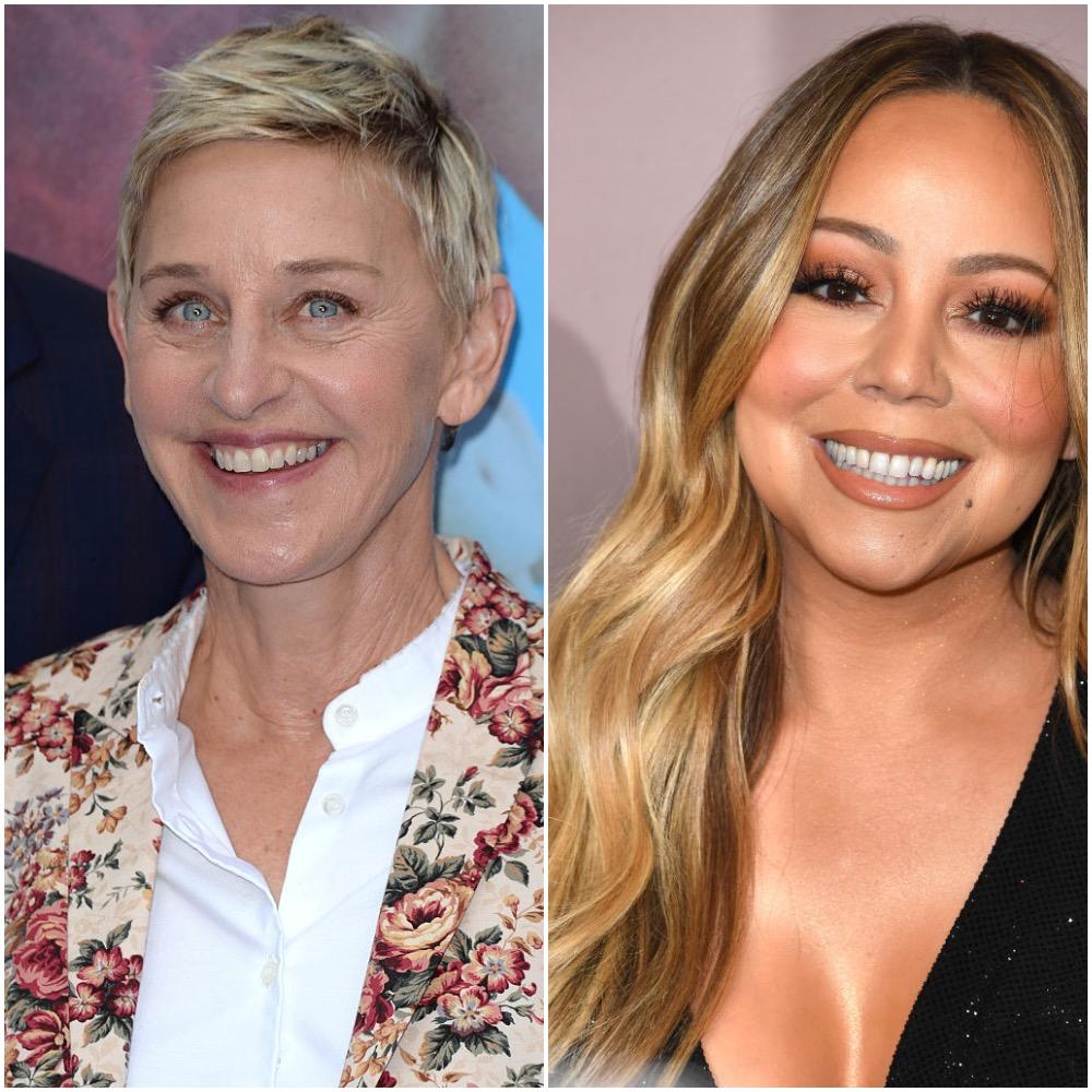 Ellen DeGeneres and Mariah Carey