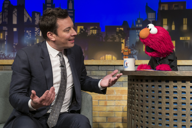 Elmo and Jimmy Fallon