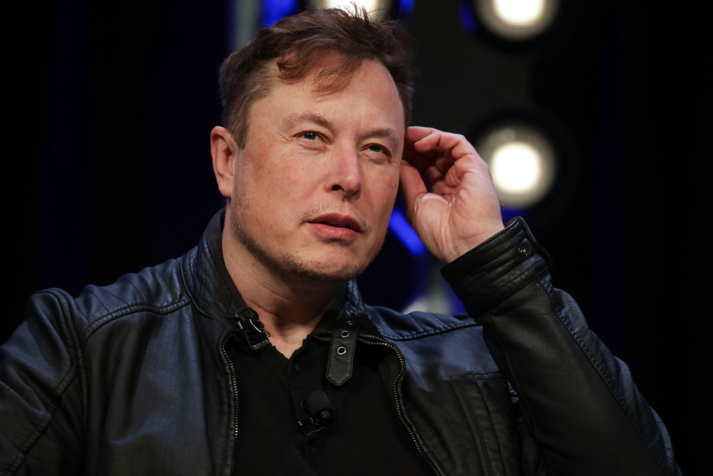 Elon Musk, Founder and Chief Engineer of SpaceX, speaks during the Satellite 2020 Conference