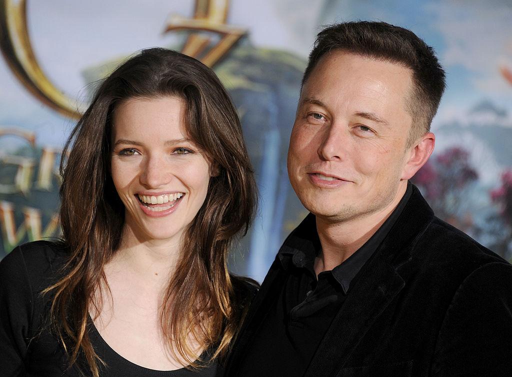 Actress Talulah Riley and Elon Musk