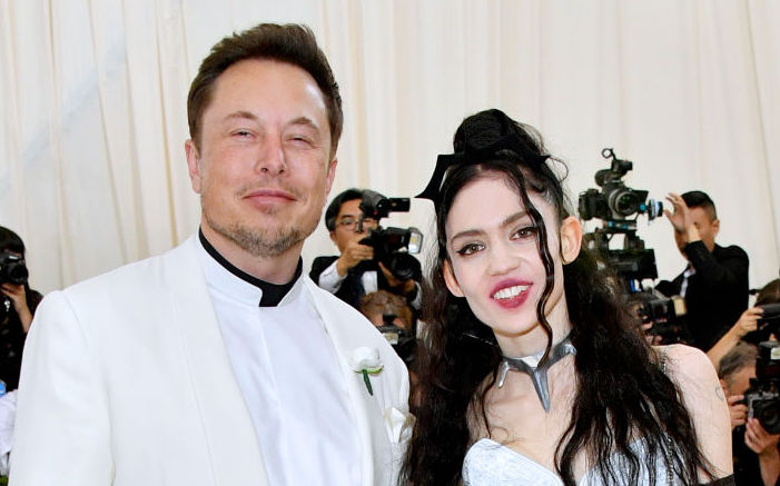 Elon Musk and Grimes at the Met Gala in May 2018
