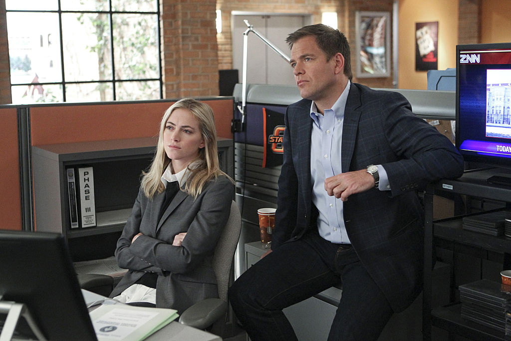 Emily Wickersham and Michael Weatherly | Sonja Flemming/CBS via Getty Images