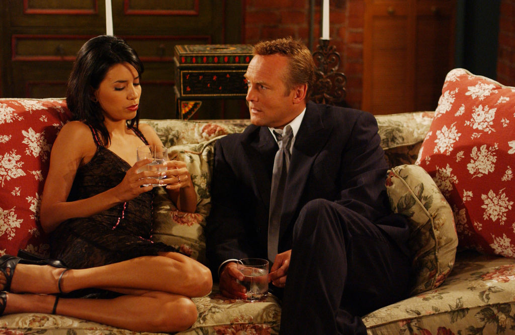Eva Longoria and Doug Davidson on The Young and the Restless | Cliff Lipson/CBS Photo Archive/Getty Images